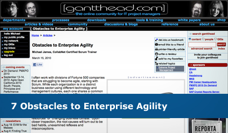 7 Obstacles to Enterprise Agility
